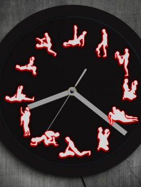 Adult Sex Positions Luminous Wall Clock