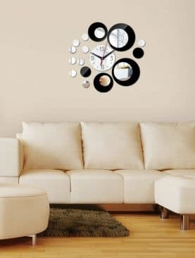 Wall Clock Acrylic Mirror Modern Design