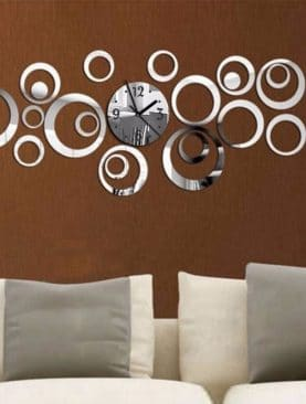 Quartz Wall Clock Acrylic Mirror Modern Design