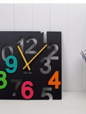 3D Novelty Hollow Design Hanging Wall Clock