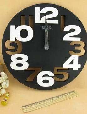 Big Number 3D Round Wall Clock