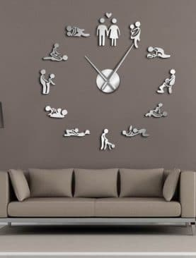 Sexy Kama Sutra Adult Room Wall Clock