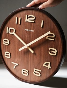 3D Wooden Bamboo Digital Wall Clock