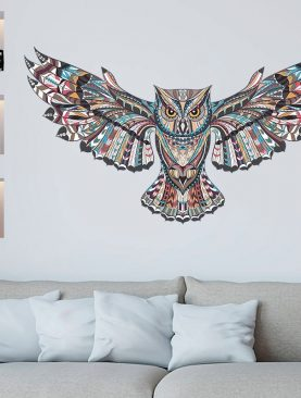 Colorful Owl Decorations Wall Design Stickers