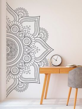 Half Mandala Wall Design Sticker