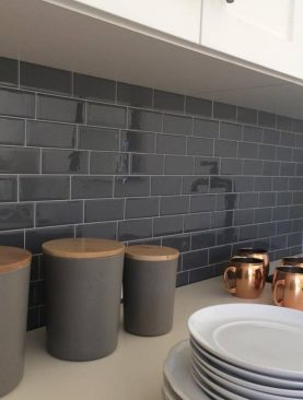 Grey brick Tile Wall decor Sticker
