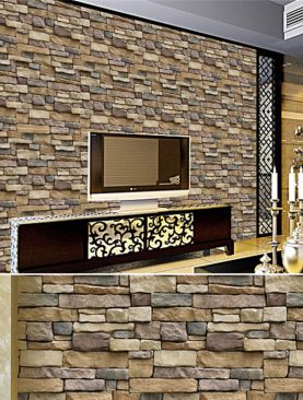 Waterproof StoneBrick Wallpaper