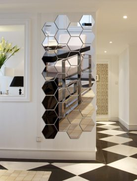 3D Hexagon Mirror Wall Stickers