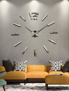 3D Real Big Mirror Wall Clocks