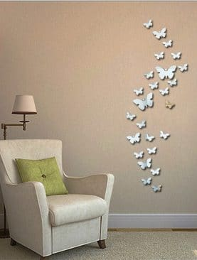 Acrylic butterfly decorative mirror wall stickers