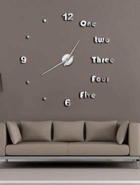 Large Frameless Modern Wall Clock