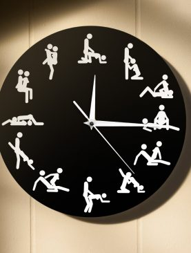 Adult Sexual Positions Humor Wall Clock