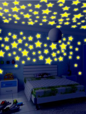 3D Stars Luminous Fluorescent Plastic Wall Sticker