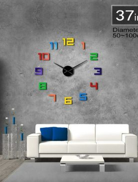 Multicolored Numbers Wall Clock