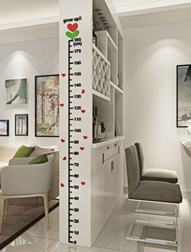 Measurement Ruler 3D Acrylic Decoration Wall Sticker